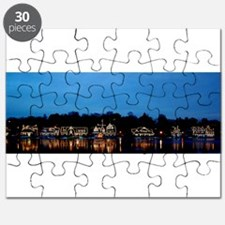 Boathouse Row, Nighttime Panoramic Puzzle