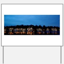Boathouse Row, Nighttime Panoramic Yard Sign
