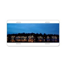 Boathouse Row, Nighttime Pa Aluminum License Plate