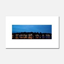 Boathouse Row, Nighttime Panora Car Magnet 20 x 12