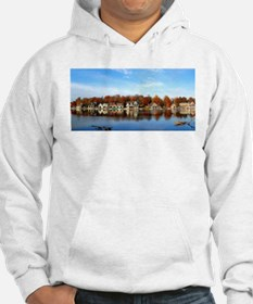 boat house row daytime Hoodie