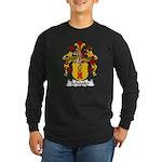 Schopfer Family Crest Long Sleeve Dark T-Shirt