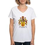 Schopfer Family Crest Women's V-Neck T-Shirt