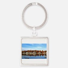 boat house row daytime Keychains