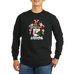 Schoning Family Crest Long Sleeve Dark T-Shirt