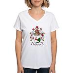 Schoning Family Crest Women's V-Neck T-Shirt