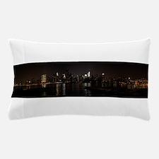 NIght Panoramic of New York City Pillow Case