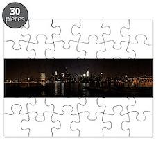 NIght Panoramic of New York City Puzzle