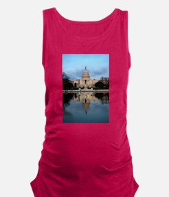 U.S. Capitol Building with Refl Maternity Tank Top