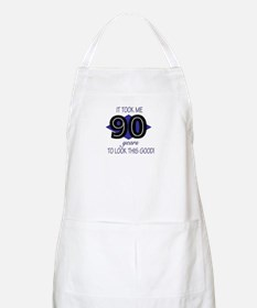 90 YEARS TO LOOK THIS GOOD BBQ Apron