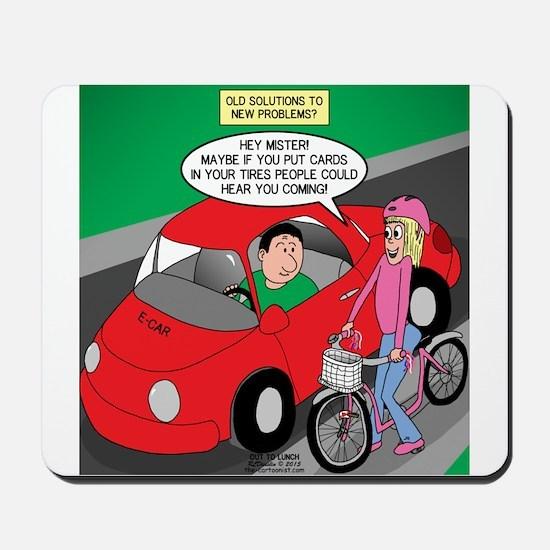 Electric Car Fix Mousepad