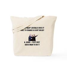 Ask a Man Tote Bag
