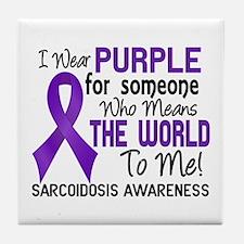 Sarcoidosis MeansWorldToMe2 Tile Coaster