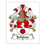 Schoner Family Crest Small Poster