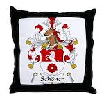 Schoner Family Crest Throw Pillow