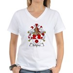 Schoner Family Crest Women's V-Neck T-Shirt