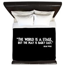 The World Is A Stage King Duvet