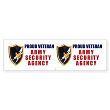 Proud Veteran - Army Security Bumper Bumper Sticker