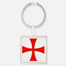 templar cross Square Keychain