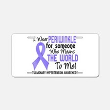 Pulmonary Hypertension Mean Aluminum License Plate