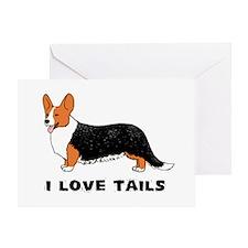 """I Love Tails"" Corgi Greeting Card"