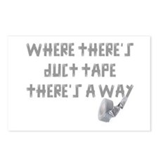 WHERE THERE'S DUCT TAPE T Postcards (Package of 8)