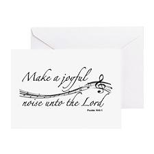 MAKE KA JOYFUL NOISE UNTO THE LORD,  Greeting Card