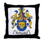 Schnabel Family Crest Throw Pillow