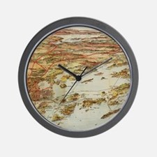 Vintage Pictorial Map of Portland Maine Wall Clock