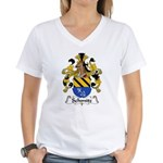 Schmitz Family Crest  Women's V-Neck T-Shirt