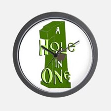 Hole in One green Wall Clock