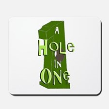 Hole in One green Mousepad