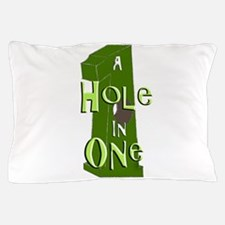 Hole in One green Pillow Case