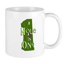 Hole in One green Mugs
