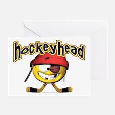 HockeyHead... Greeting Card