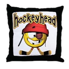 HockeyHead... Throw Pillow