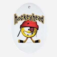 HockeyHead... Oval Ornament