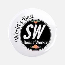 """World's Best Social Worker 3.5"""" Button (100 pack)"""