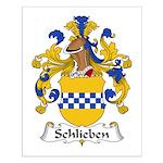 Schlieben Family Crest Small Poster