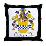 Schlieben Family Crest Throw Pillow