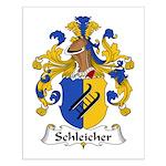 Schleicher Family Crest Small Poster