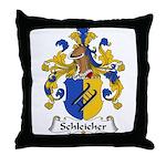 Schleicher Family Crest Throw Pillow
