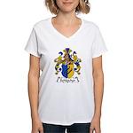 Schleicher Family Crest Women's V-Neck T-Shirt