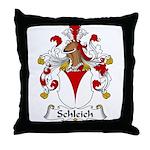 Schleich Family Crest Throw Pillow