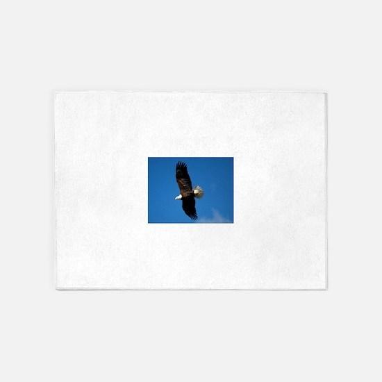 Eagle soaring 5'x7'Area Rug