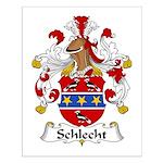 Schlecht Family Crest Small Poster