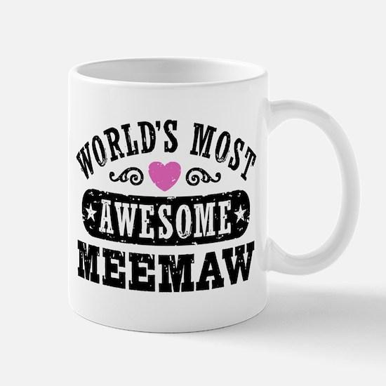 World's Most Awesome MeeMaw Mug