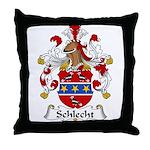 Schlecht Family Crest Throw Pillow