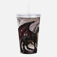 Dragon In Cave Acrylic Double-wall Tumbler