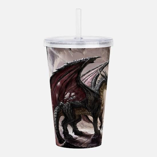Dragon In Cave Acrylic Double-wall Tumbler